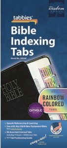 Bible Index Tabs Rainbow - Catholic (Tabbies)