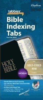 Bible Index Tabs Mini Gold - Catholic (Tabbies)