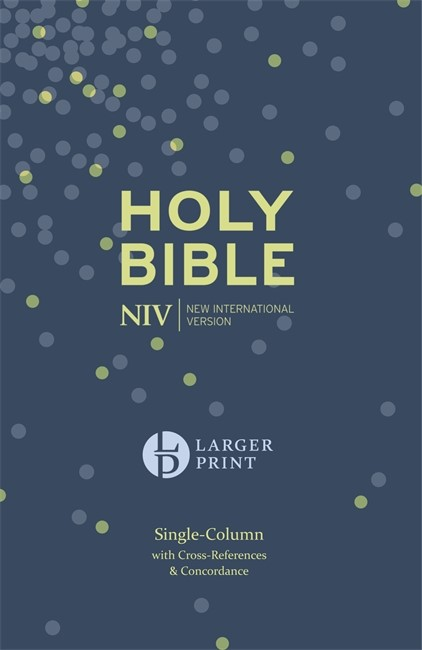 NIV Larger Print Compact Single Column Reference Bible (Hard Cover)