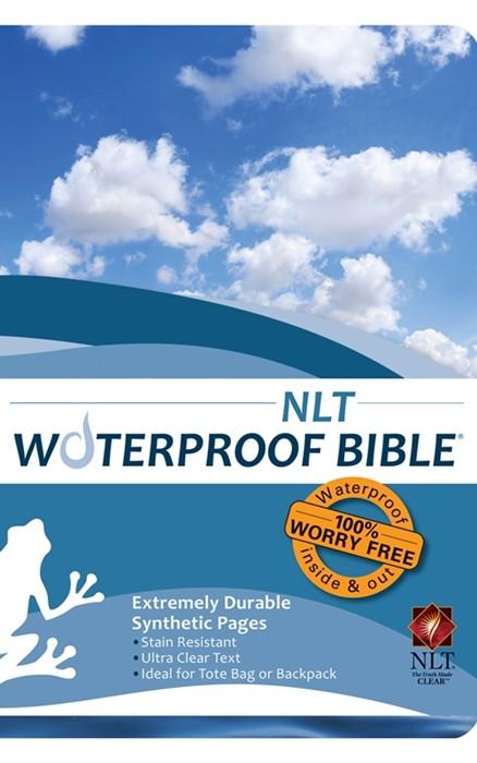 NLT Waterproof Bible Blue Wave