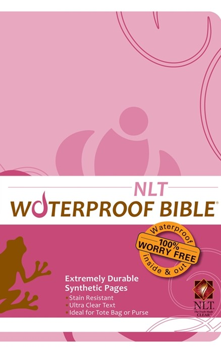 NLT Waterproof Bible Pink Brown