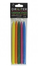 Driliter Multi-colour Crayon Sticks - pack of 5