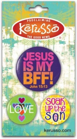 Button Pack Jesus is My BFF