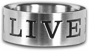 Live For Him Ring Size 8