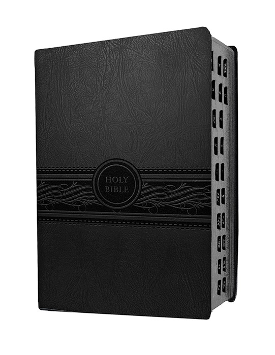 MEV Personal Size Large Print Indexed, Charcoal (Leather Binding)