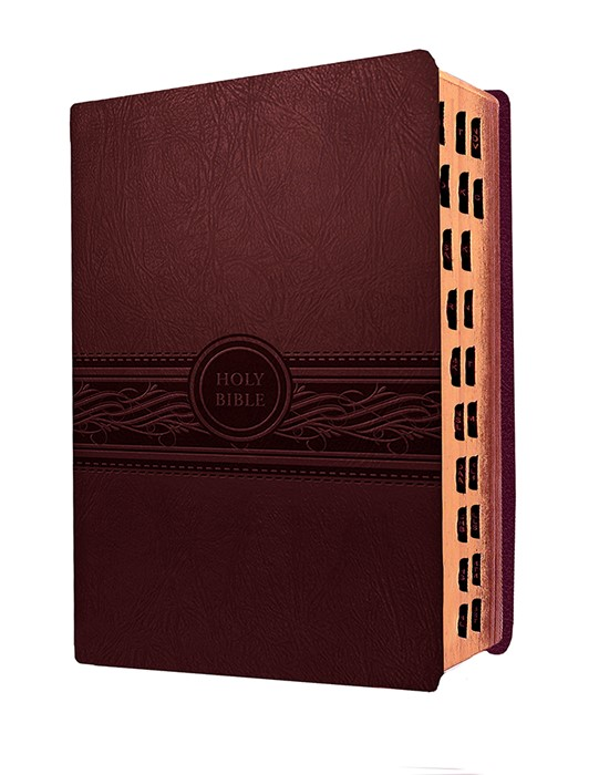 MEV Personal Size Large Print Indexed, Cherry Brown (Leather Binding)
