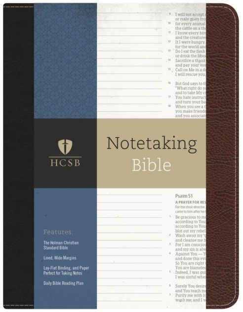 HSCB Notetaking Bible, Black/Brown (Imitation Leather)