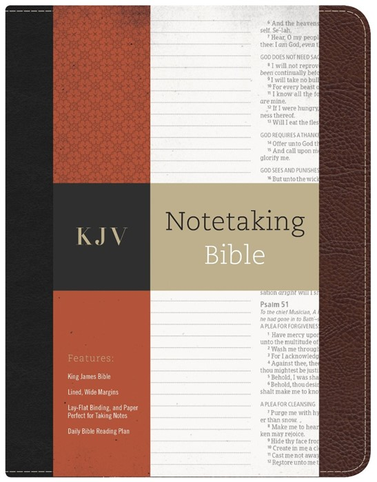 KJV Notetaking Bible (Bonded Leather)