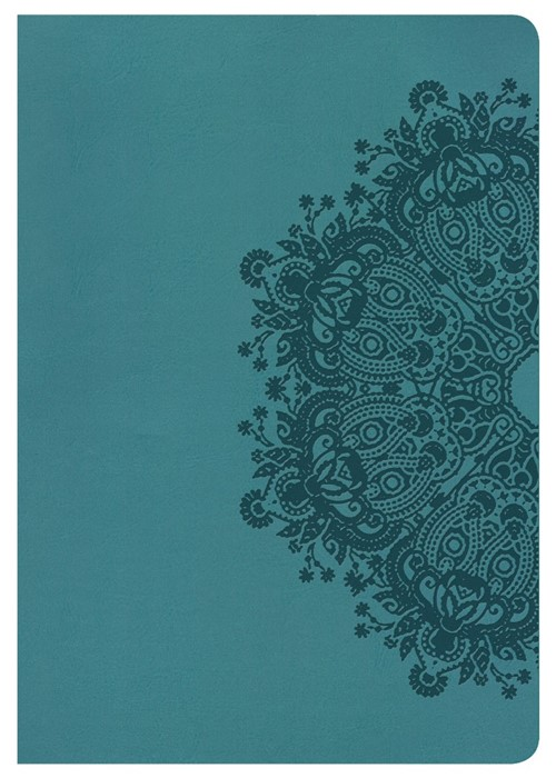 KJV Super Giant Print Reference Bible, Teal Leathertouch (Imitation Leather)