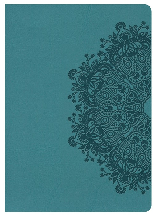 NKJV Large Print Compact Reference Bible, Teal Leathertouch (Imitation Leather)