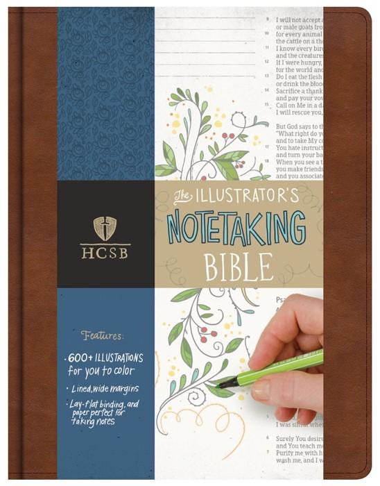 HCSB Illustrator'S Notetaking Bible, British Tan (Imitation Leather)
