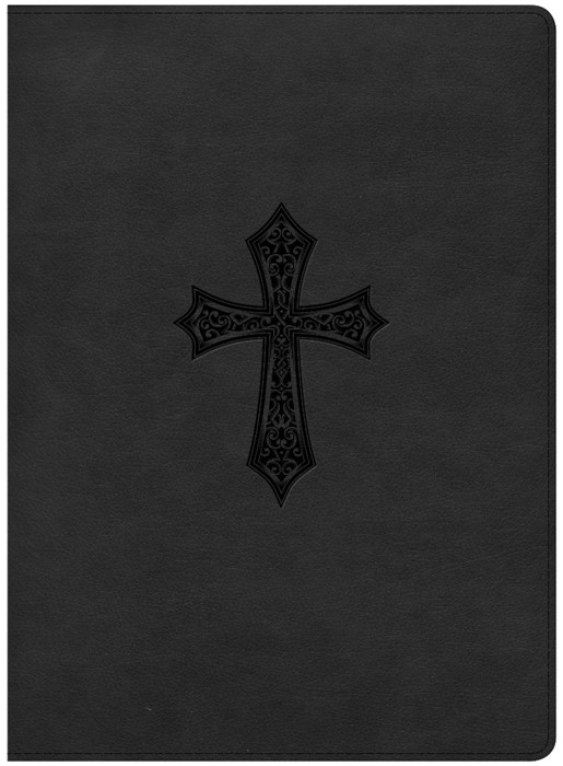HCSB Gospel Project Bible, Black Cross Leathertouch (Leather Binding)