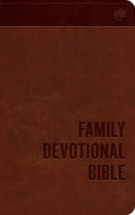 ESV Family Devotional Bible Trutone, Brown (Imitation Leather)