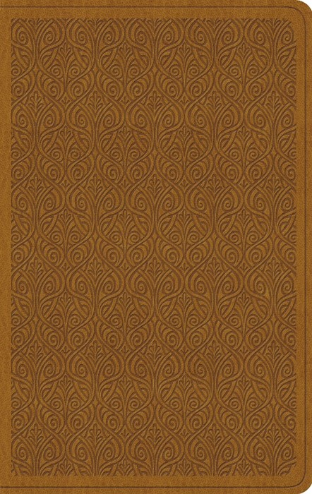 ESV Value Thinline Bible, Trutone, Goldenrod, Vine Design (Leather Binding)