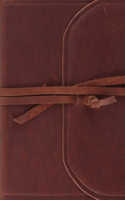 ESV Thinline Bible (Flap With Strap) (Leather Binding)
