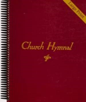 Church Hymnal Large Print - Classic Red (Spiral Bound)