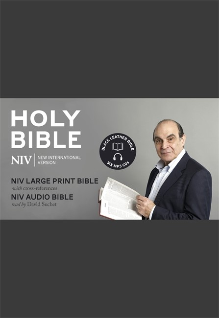 Niv David Suchet Audio And Large Print Leather Bible Gift Ed (Mixed Media Product)