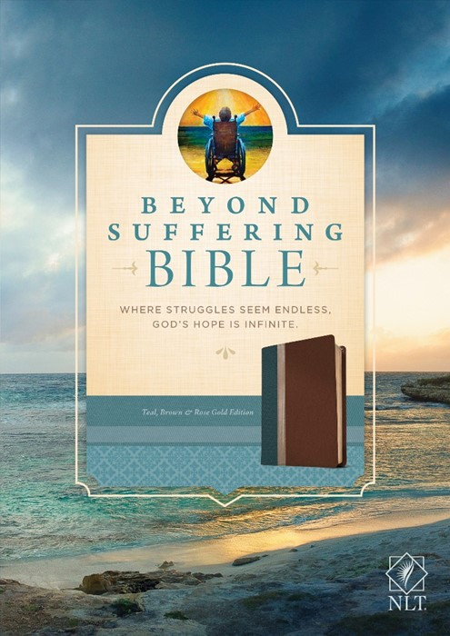 NLT Beyond Suffering Bible, Tutone Teal/Brown/Rose Gold (Imitation Leather)