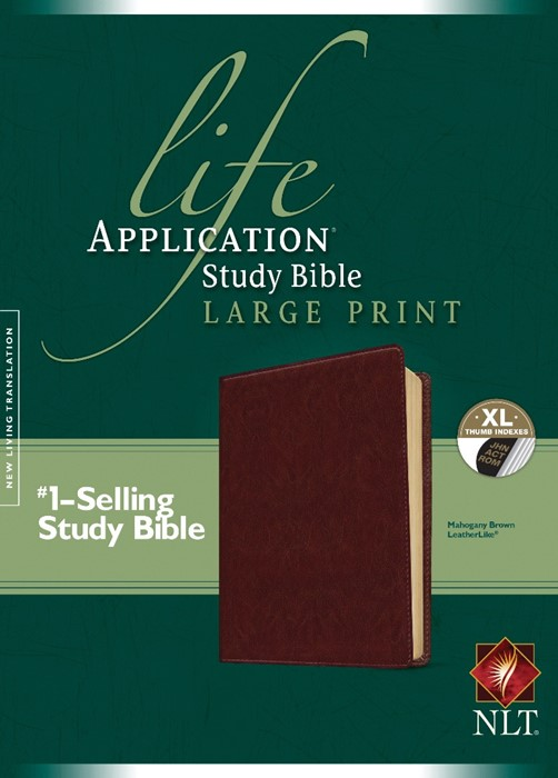 NLT Life Application Study Bible Large Print, Indexed (Imitation Leather)