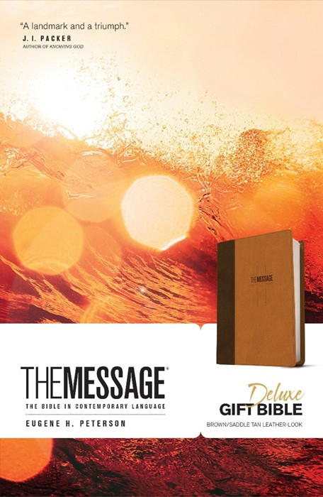 Message Deluxe Gift Bible, Brown (Imitation Leather)