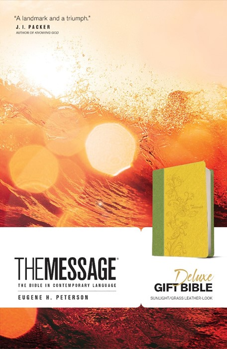 Message Deluxe Gift Bible (Leather Binding)