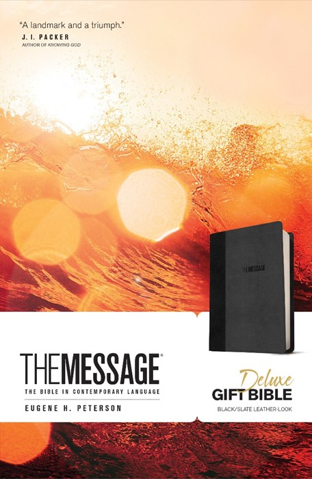 Message Deluxe Gift Bible, Black (Imitation Leather)