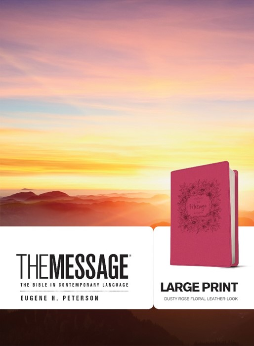 The Message Large Print (Leather Binding)
