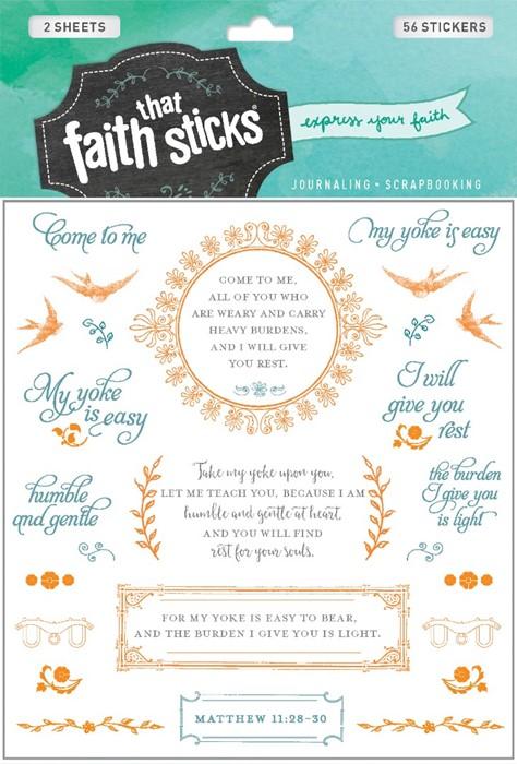 Matthew 11:28-30 (Stickers)