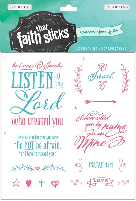 Isaiah 43:1 (Stickers)