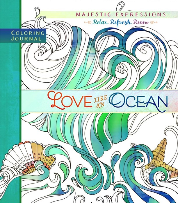 Love Like An Ocean Colouring Journal (Paperback)