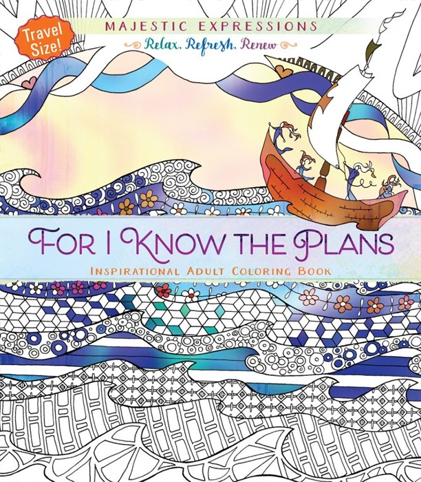 For I Know The Plans (Travel Size) Colouring Book (Paperback)