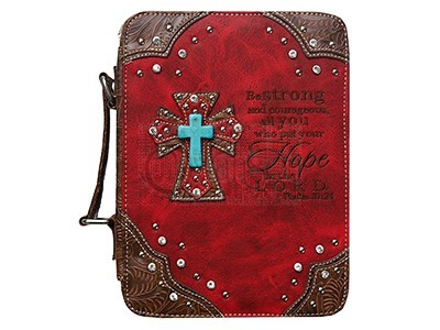 Fashion Bible Cover Cross/Hope Red (General Merchandise)