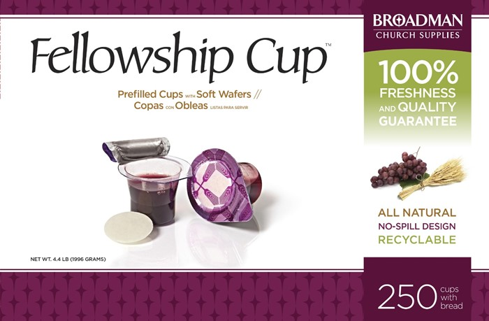 Fellowship Cup Box of 250 - Prefilled Communion Bread & Cup (General Merchandise)