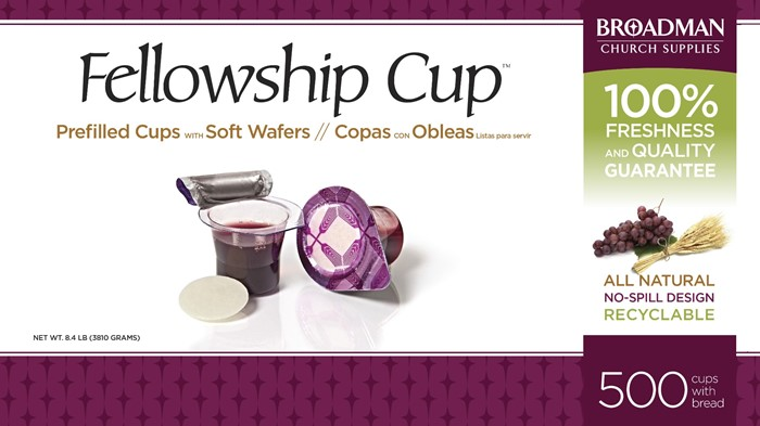 Fellowship Cup Box of 500 - Prefilled Communion Bread & Cup (General Merchandise)