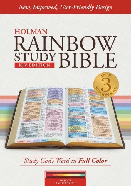 KJV Rainbow Study Bible Maroon, Leathertouch, Indexed (Imitation Leather)