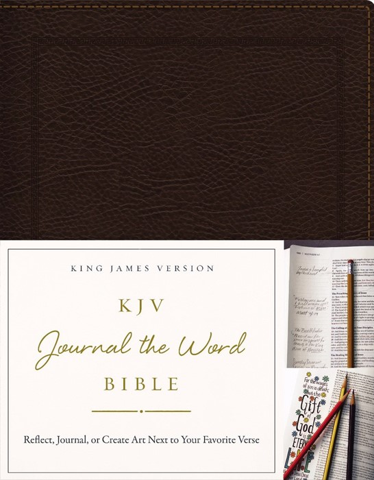 KJV Journal the Word Bible BL Brown (Bonded Leather)