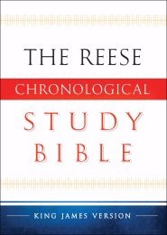 KJV Reese Chronological Study Bible (Hard Cover)