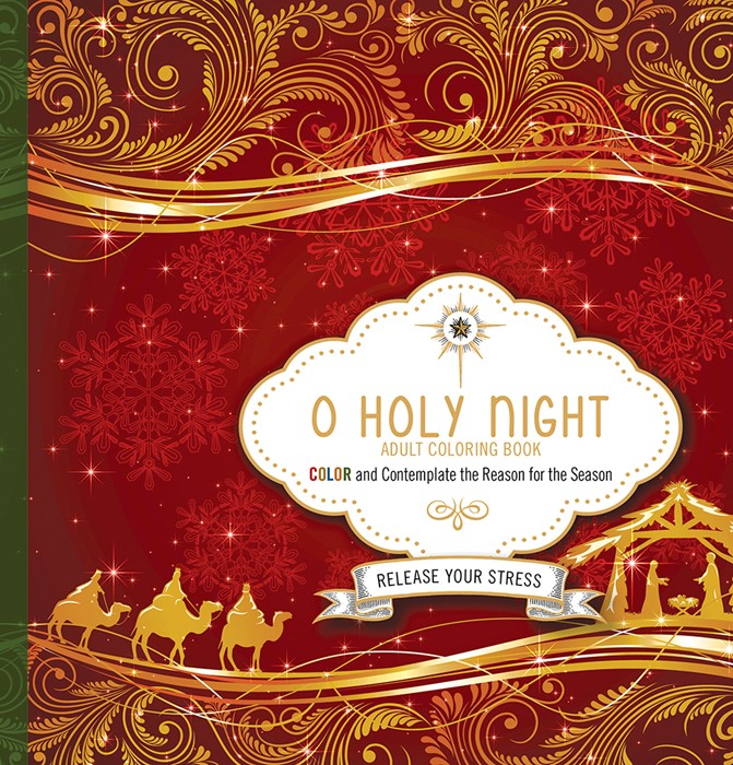 O Holy Night Adult Coloring Book (Paperback)