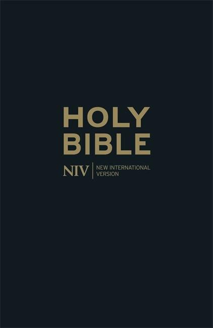 NIV Thinline Black Leather Bible (Hard Cover)