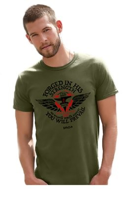 T-Shirt Forged in His Strength Adult XL