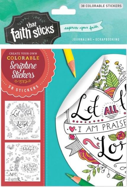 Psalm 103:2 Colourable Stickers (Stickers)