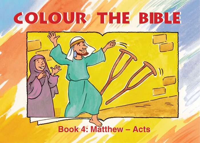 Colour The Bible Book 4: Matthew - Acts (Paperback)