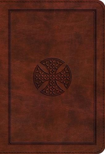 ESV: Large Print Compact Bible Trutone, Brown, Mosaic Cross (Imitation Leather)