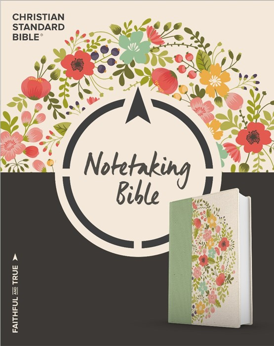 CSB Notetaking Bible, Sage Cloth Over Board (Hard Cover)