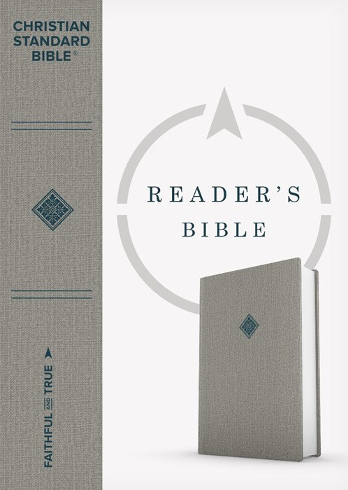 CSB Reader's Bible, Gray Cloth Over Board (Hard Cover)