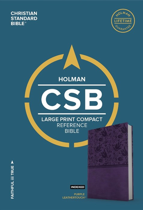 CSB Large Print Compact Reference Bible, Purple Leathertouch (Imitation Leather)