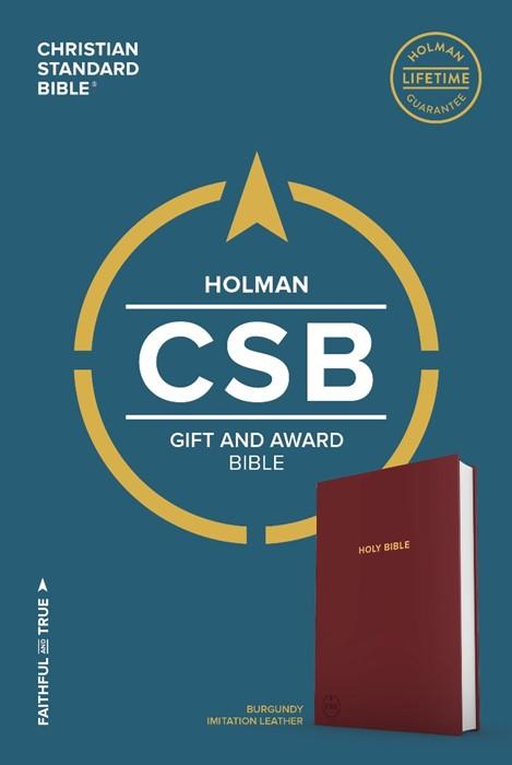 CSB Gift & Award Bible, Burgundy (Leather Binding)