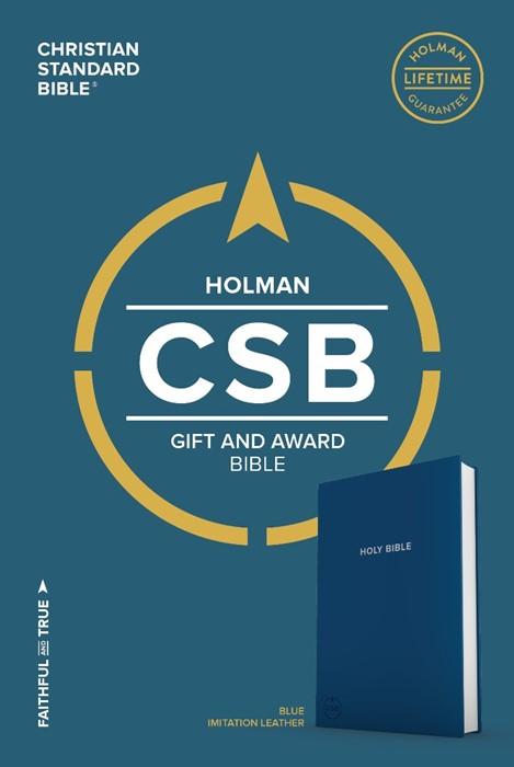 CSB Gift & Award Bible, Blue (Leather Binding)