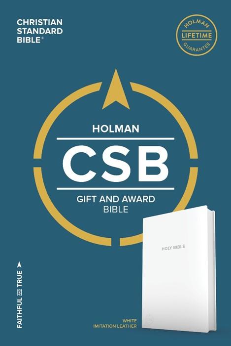 CSB Gift & Award Bible, White (Leather Binding)