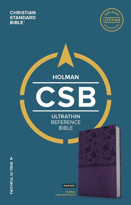 CSB Ultrathin Reference Bible, Purple Leathertouch, Indexed (Imitation Leather)